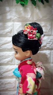 お人形の着物一越縮緬