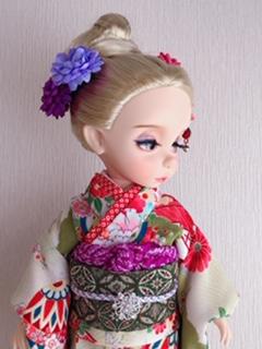 人形着物帯1