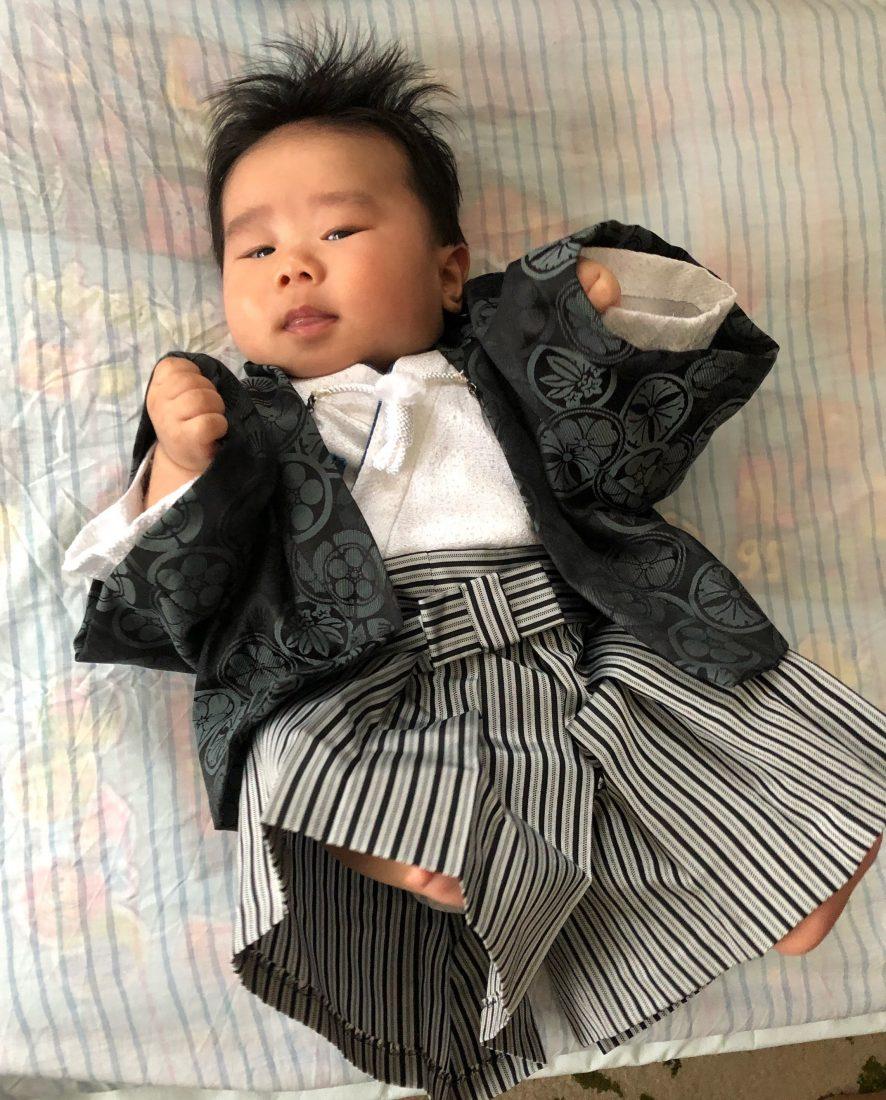 ベビー用の羽織袴