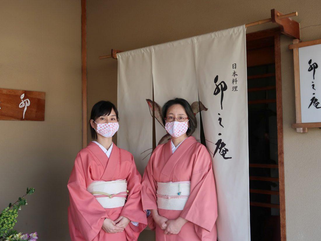 卯之庵で手作りマスク