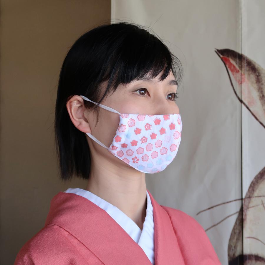 手作りマスク和風手ぬぐいで