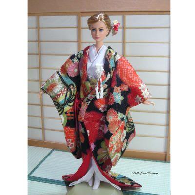 人形の花嫁衣裳