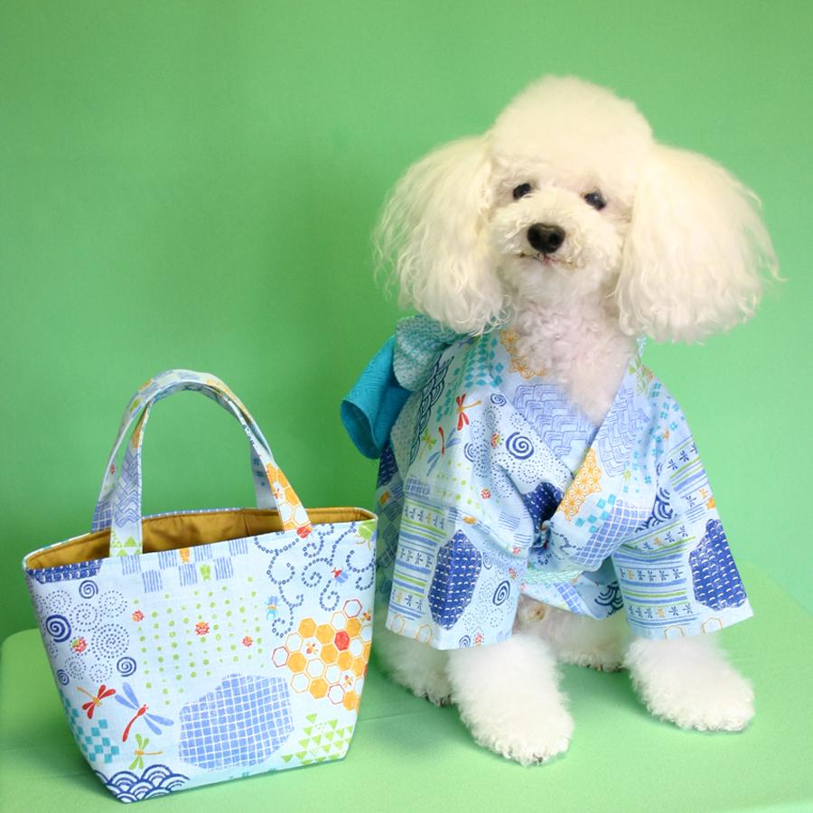愛犬の浴衣とバッグ